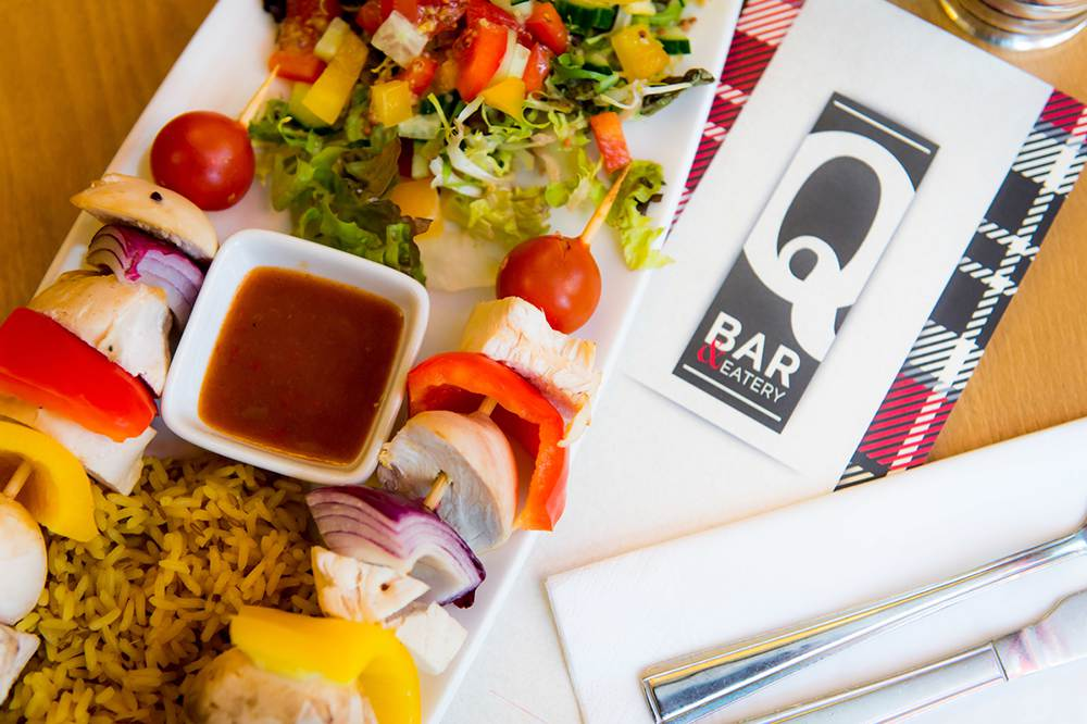 Queens Bar and Eatery food kebab
